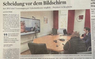 Kölner-Stadtanzeiger und Rundschau berichten über erste Online-Scheidung